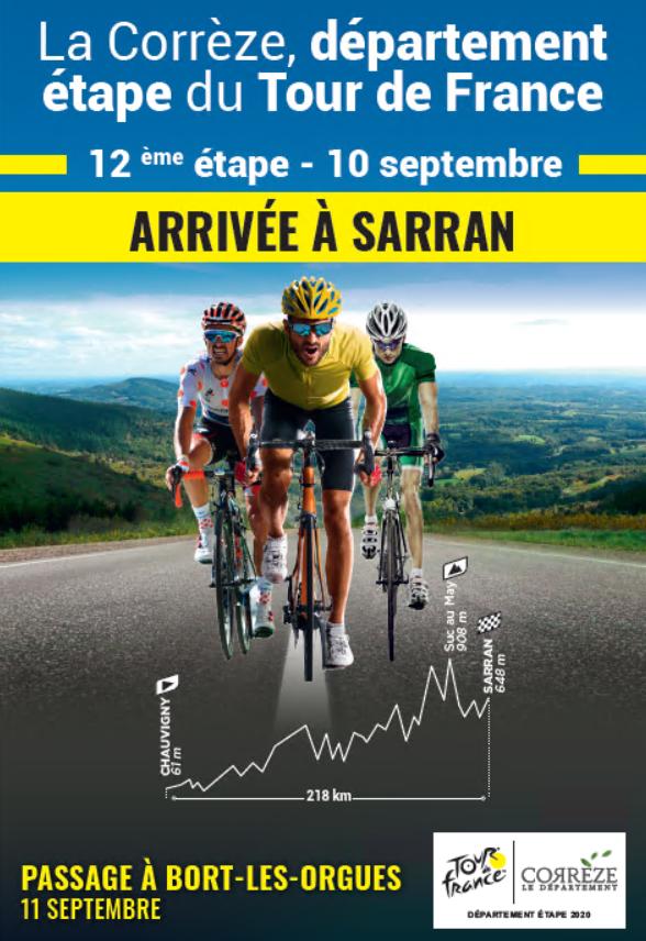 Correze Tour De France 2020 Departement De La Correze Partenaire De Tous Les Sports